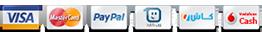 نقبل الدفع عبر Visa - MasterCard - PayPal - CashU
