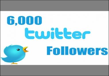 تقديم 6000 متابع تويتر لحسابك عرض محدود
