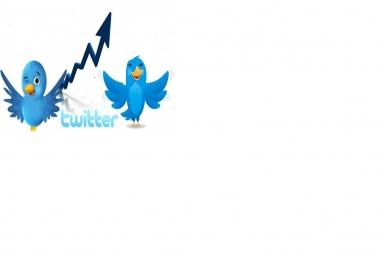 اضافة 10000 متابع عالى الجودة لك فى حسابك على تويترفى اقل من24 ساعة