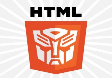 سوف اعدل لك على اى قالب html بطريقة احترافية