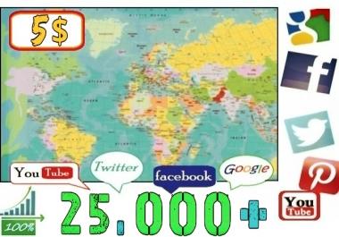 أكثر من 25000 زائر امن على ادسنس من جوجل فيسبوك تويتر يوتيوب بـ 5$ فقط.
