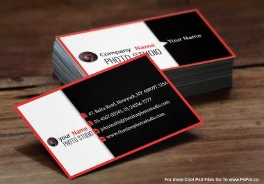 أصمم لك 5بطاقات Business card بمواصفات أحترافية وراقية