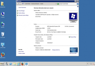 VPS   RDP بنظام ويندوز   اتصال بسطح مكتب بعيد   لمدة اسبوع