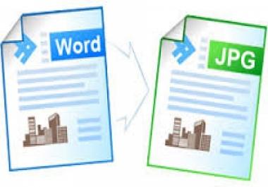 تحويل أي ملف word إلى صورة jpg