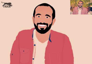 ارسم صورتك او صورة من تحب كارتون و اعلى جوده
