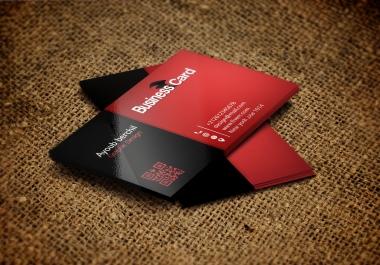 تصميم بطاقة اعمال احترافية ومميزة