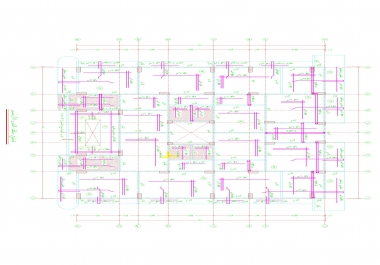 عمل التصميم الإنشائي لأي مبني
