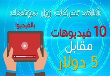 شاهد تحركات زوار موقعك بالفيديوا