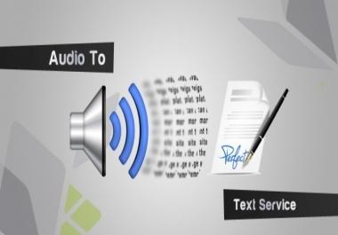 تفريغ مقطع صوتي او مرئي 30دقيقة الى نص مكتوب