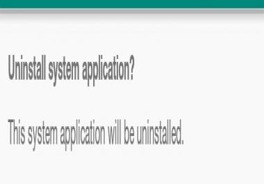طريقة مسح برامج النظام الاساسيه لاجهزه الاندرويد و اضافه غيرها