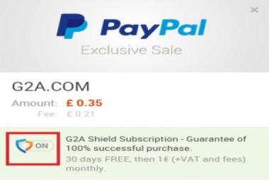تفعيل درع g2a shield بالمجان