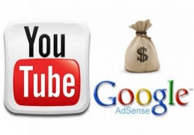 سأنشئ لك قناة على اليوتيوب و ربطها بحساب الأدسنس