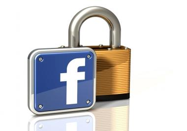 ساقوم بفتح حساب الفيس بوك المغلق لك باختبار صور ب5$ في وقت قياسي