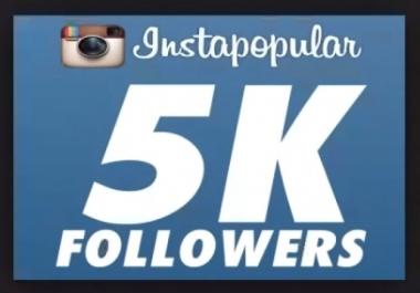 5.000 متابع انستجرام أجنبي جودة عالية