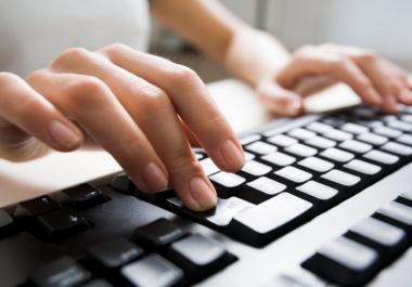 كتابة وتفريغ دروس مقالات تدوينات إعلانات وبحوث