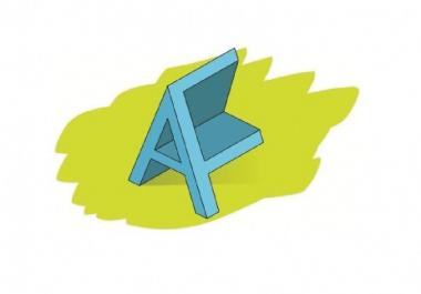 اصمم لك شعار ثلاثي الابعاد