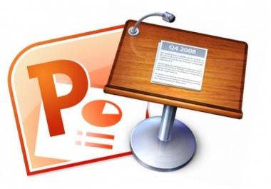 تصميم عروض تقديمية احترافية عربية او انجليزية لاي موضوع وبدقة لغوية عالية