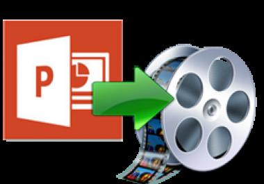 أحولك لك أي عرض تقديمي PowerPoint إلى فيديو بـ 5$ فقط
