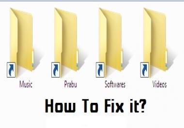 التخلص من فيروس shortcut بطريقة سهله ومضمونة