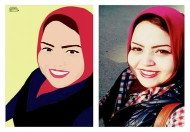 رسم الصورة الشخصية على الفوتوشوب وتحويلها الى صورة كرتونية