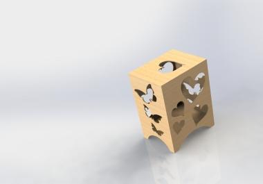 تصميم منتجات خشبيه عن طريق القطع بالليزر