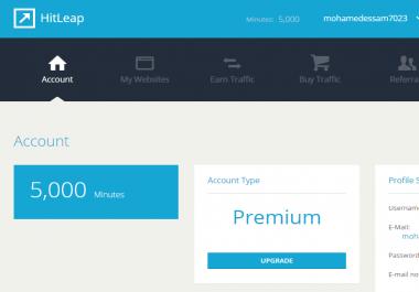 بيع ايمل Hitleap به 5000 دقيقة لزياده زيارات مونتك مقابل 5$