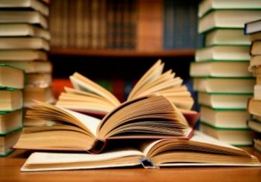 عمل أبحاث مدرسية أو جامعية
