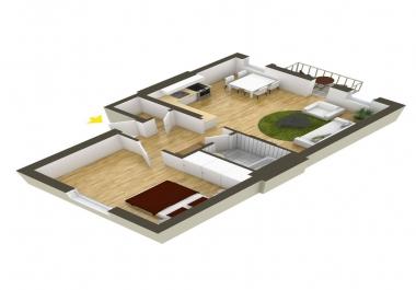 التصميم المعماري لبيتك برسومات 2D و 3D