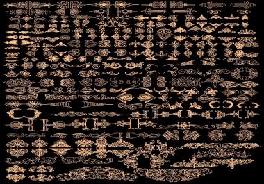 اكبر تجميعة من الاشكال والزخارف بصيغة اوتوكاد