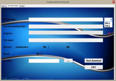 برنامج youtube playlist downloader برنامج رائع من تصميمي لتحميل اى قائمه تشغيل بسهوله