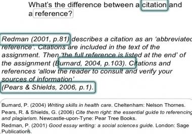 عمل citation ل 50 مرجع  reference  فى ملف وورد