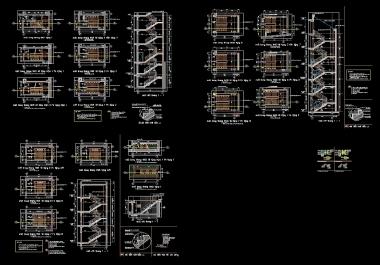 اكبر مكتبة من تفاصيل السلالم بصيغة اوتوكاد من اخراجى