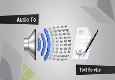 تحويل الصوتيات لكتابة WORD او PDF مع التنسيق للطباعه علي يد متخصصون لأكثر من ست سنوات من النجاح