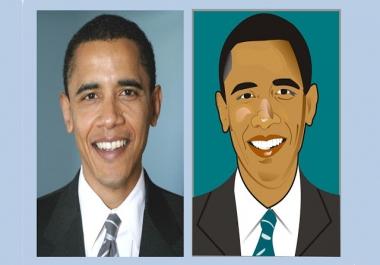 تحويل صورة حقيقية لاي شخصية الى صورة كرتونية فريدة من نوعاها وبدقة عالية