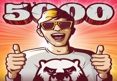 5000 معجب لصفحتك فيسبوك مقابل 5$ فقط