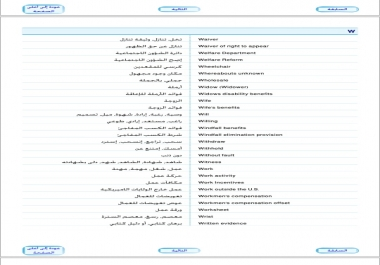 مصطلحات عربي  انجليزي
