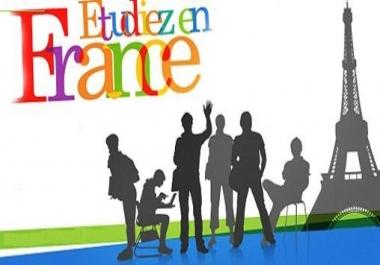 مرافقتك في رحلة الهجرة و الدراسة في فرنسا