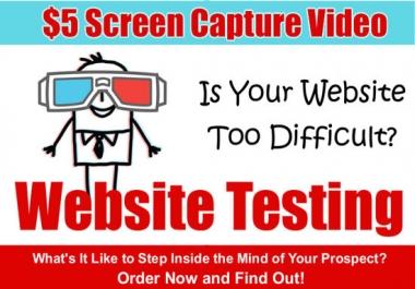 أقدم لك فيديو 15 دقيقه كأختبار مستخدم واقتراحات في خلال ساعتين من الطلب مقابل 5$