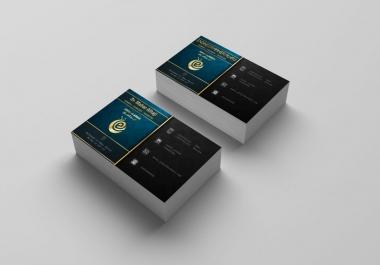 تصميم بطاقة أعمال غاية في الإحترافية ب5$ فقط   هدية