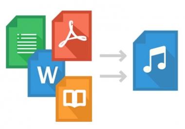 تحويل Word او PDF الي صوت
