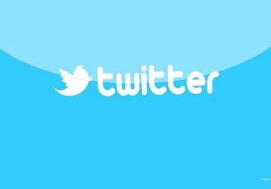 سوف أضيف 4000 فولورز في حسابك علي تويتر ب 5$ فقط