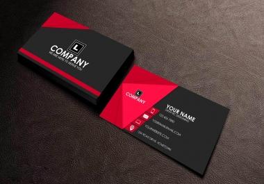 تصميم بطاقة اعمال عالية الجودة من جهتين وقابلة للطباعة