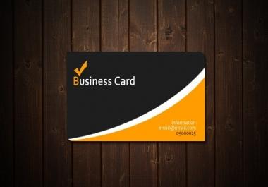 تصميم بطاقة شخصية او اعمال ابهر بها عمالك مقابل 5$