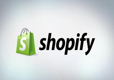 تصميم متجر شوبيفاي احترافي مع كل الإضافات.