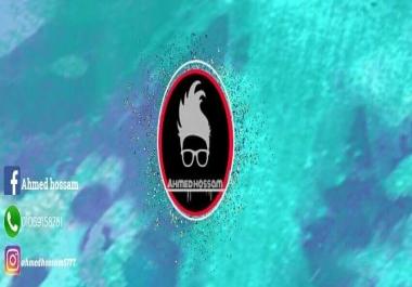 شعار احترافي مع غلاف يحمل الشعار وصوره شخصيه للفيس بوك HD احترافيه