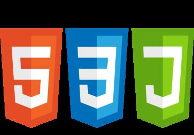 انشاء موقع استاتيكى 25 صفحه بلغه Html5  Css3  Javascript