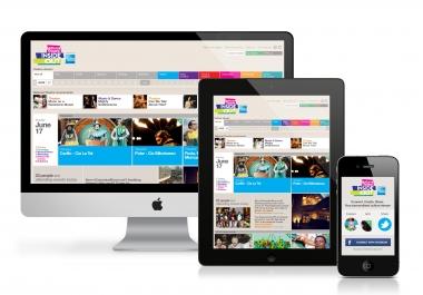 تصميم موقع احترافى يتجاوب مع جميع الاجهزة والهواتف RESPONSIVE
