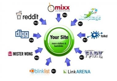 إضافة موقعك إلى أفضل 50 موقع Social Bookmarks يدويا