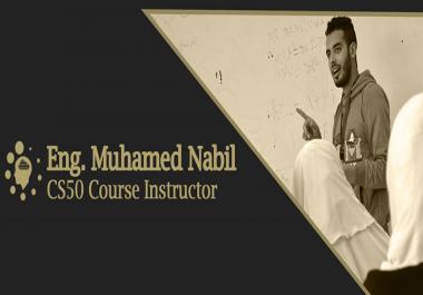 تدريس دورة Cs50 دورة البرمجه الأشهر المقدمه من جامعة هارفارد .