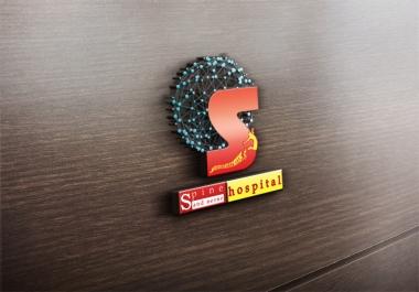 تصميم شعار احترافي ووضعه في  mockup ثلاثي الابعاد وتصميم اخر مجاني